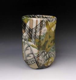 Oribe-style vase