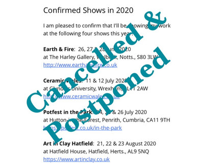 Confirmed Shows in 2020