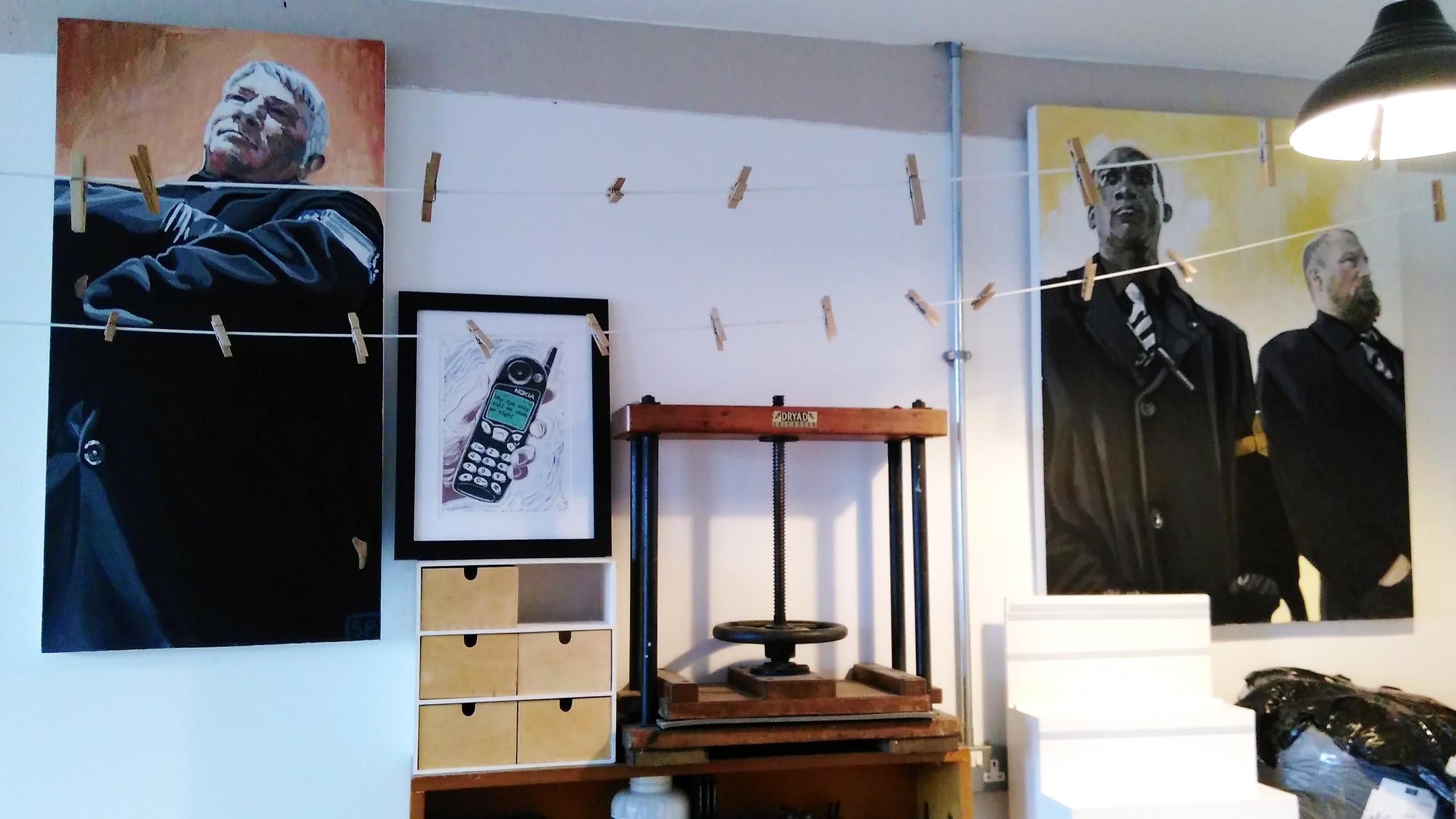 Saskia Palmer's studio