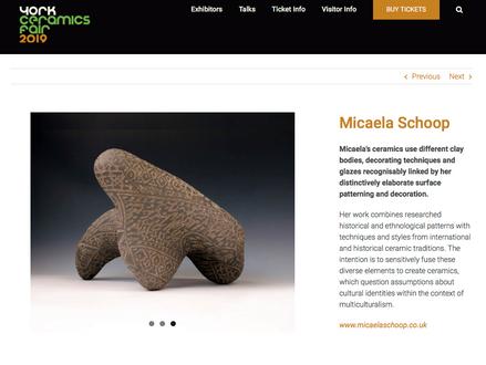 York Ceramics Fair: 23-24 November