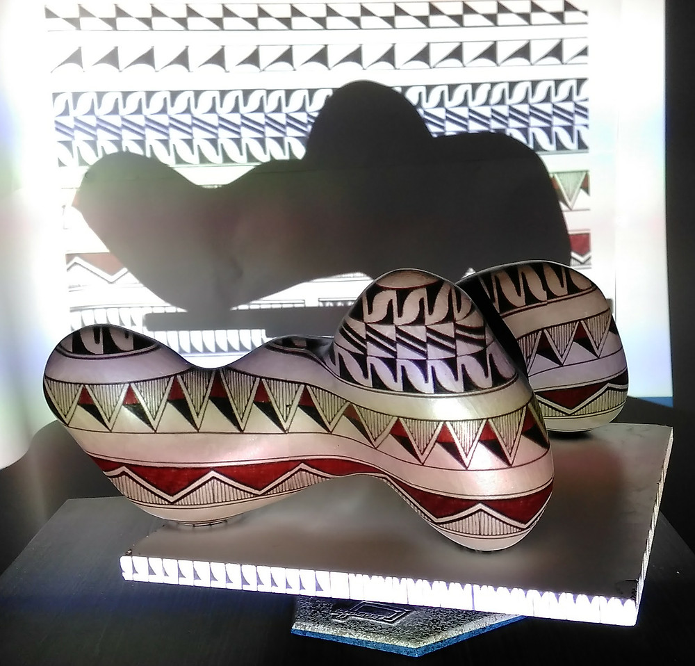 Pueblo banded pattern