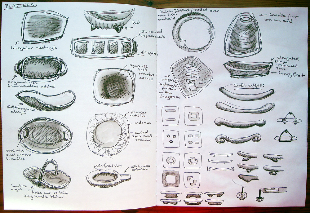 Preliminary platter sketches