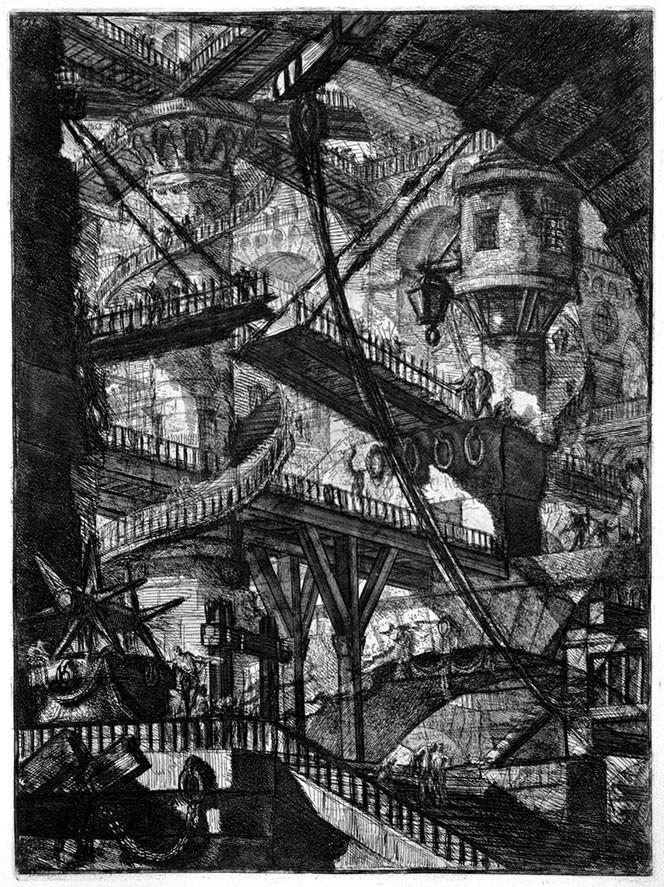 Piranesi: The Drawbridge from Imaginary Prisons, 1745