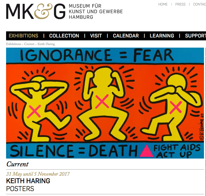 Poster exhibition by Keith Haring