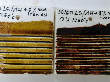 Developing Honey-like glazes at stoneware temperatures