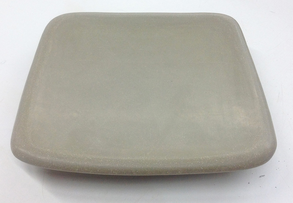 Square platter from above