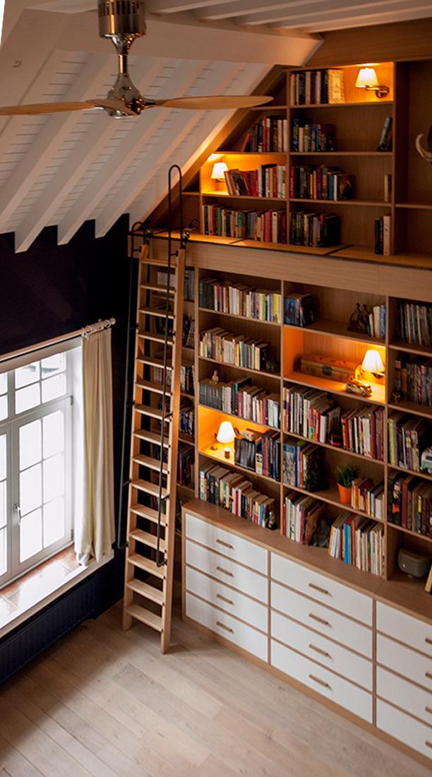2014-Architectenbureau KNAP-Bibliotheek-Hout en Meubel