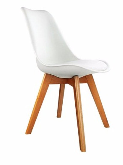 Brandon Padded Seat Dining Chair White - VCH-500