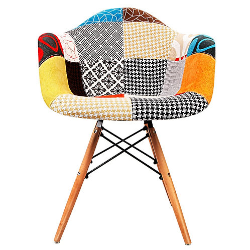 Eames Patchwork Dining Arm Chair M2503-66D