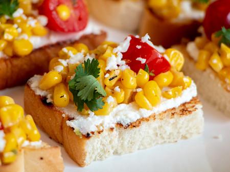 Summer Corn Bruschetta