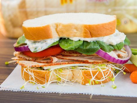 Turkey Veggie Sandwich