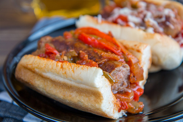 Sausage Pepper Onion Hoagie