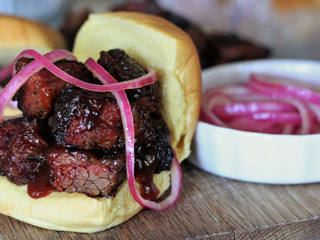 BBQ Burnt Ends Sandwich