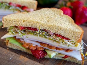Turkey Strawberry Avocado Sandwich