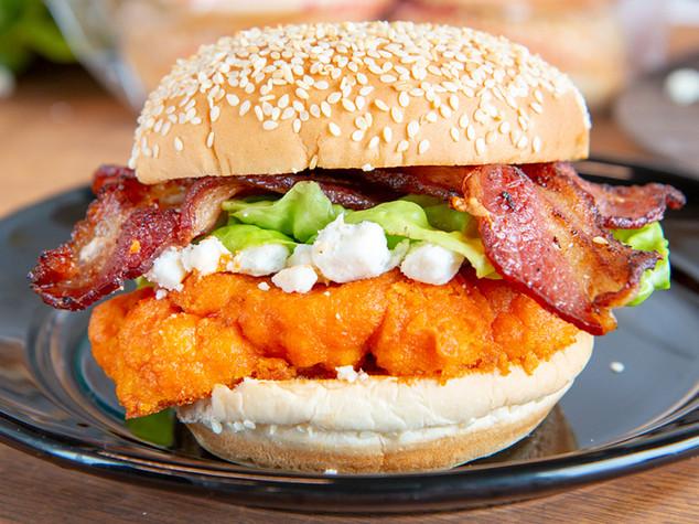 Buffalo Cauliflower Burger