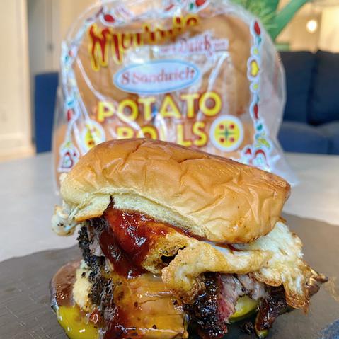 Sliced Brisket Breakfast Sandwich by @somuchlifeblog