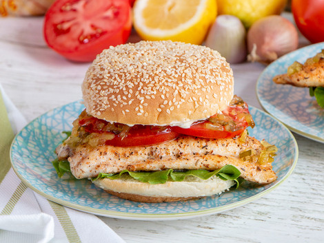 Grilled Cajun Catfish Sandwich