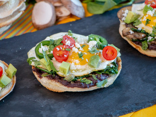 Green Chili Breakfast Tostadas