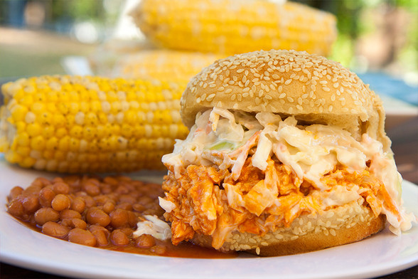 Buffalo Chicken with Ranch Coleslaw