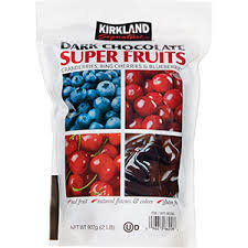Kirkland Dark Choco. Super Fruits 32oz