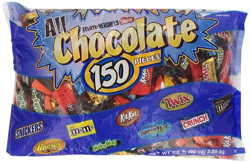 美國派對裝朱古力 150小包 5.6磅