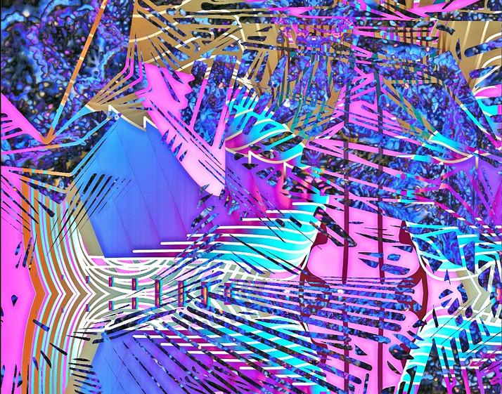 Custom generative software and digital painting