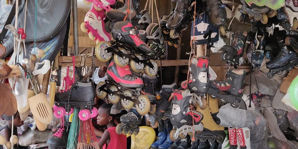 Visite du marché aux fripes d'Hedzranawoe