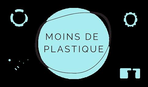 Moins de plastique