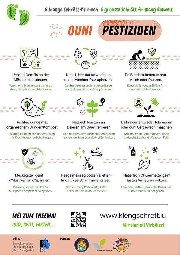 Kleng Schrëtt_Infografik_Ouni Pestiziden