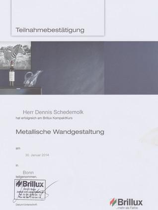 Brillux - Metallische Wandgestaltung