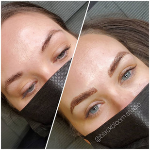 Brow Service include both techniques Microblading & Machine Shading