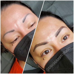Cover-up. NOT all Cover-ups are possible. Send a photo of your Brows to Breannajoy@blackbloom.studio for a online Consult
