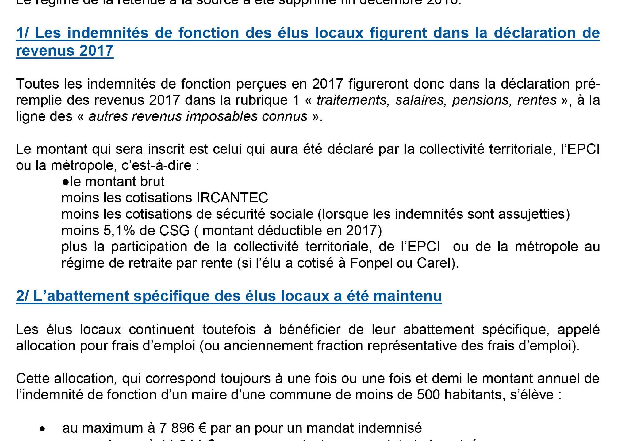 NOTE 31bis Declaration fiscale revenus 2017-1
