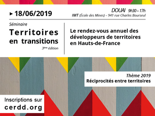 """Cerdd """"Séminaire """"Territoires en Transitions"""" - 18 juin à Douai"""