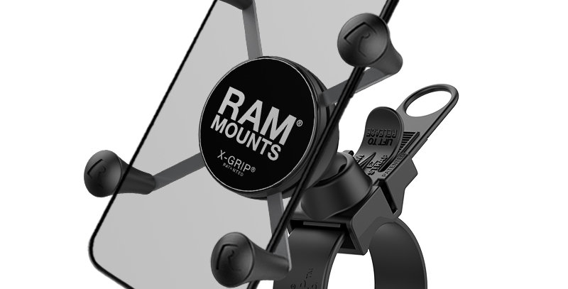 RAM® X-Grip® Phone Mount with RAM® EZ-Strap™ Rail Mount