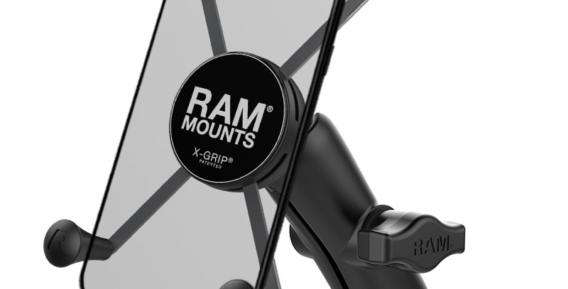 RAM® X-Grip® Large Phone Mount with Motorcycle Handlebar Clamp Base