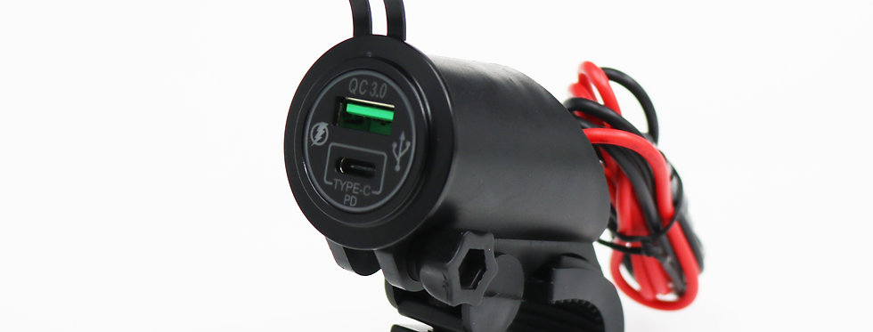 Motorcycle QC3.0 USB with Type C Charger