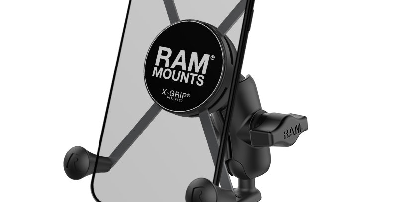 RAM® X-Grip® Large Phone Mount with Motorcycle Fork Stem Base