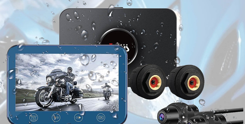 S8 WiFi Waterproof Motorcycle Camera with TPMS