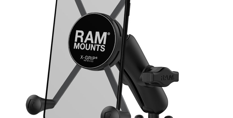 RAM® X-Grip® Large Phone Mount with Handlebar U-Bolt Base