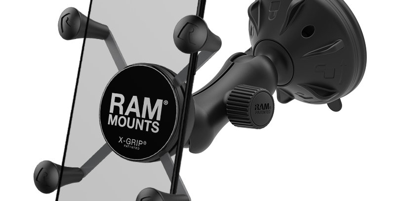 RAM® X-Grip® Phone Mount with RAM® Twist-Lock™ Low Profile Suction Base
