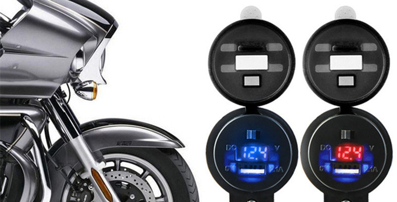 Motorcycle USB with Voltmeter
