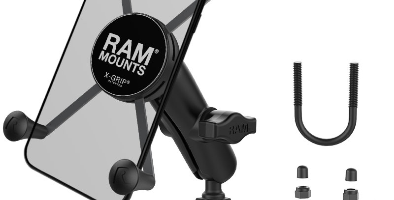 RAM® X-Grip® Large Phone Mount with Brake/Clutch Reservoir Base