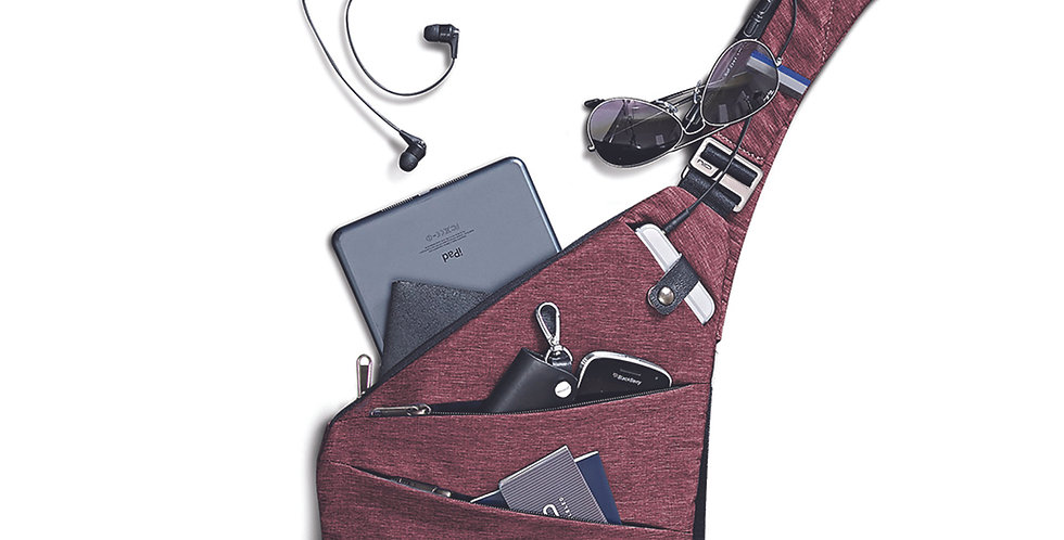 Fino Burgundy Sling Bag