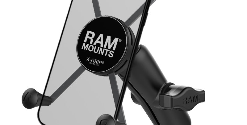 RAM® X-Grip® Large Phone Mount with RAM® Torque™ Small Rail Base
