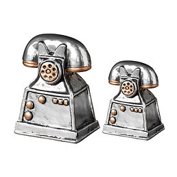 2Pcs-Telephone-Model-Mini-Vintage-Creati