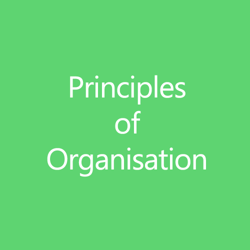 Principles of Organisation Title Button