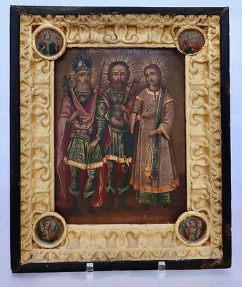 Russische Ikone | Drei Heilige | 24725