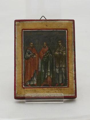 Russian Icon | Saints Cosmas, Damian and Pantaleon
