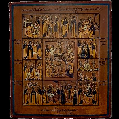 Russische Ikone | Ostern und die 12 Hochfeste